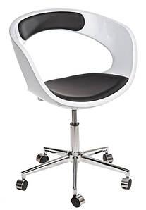 Кресло на колесиках ФЛОП K - белый, S - e красный