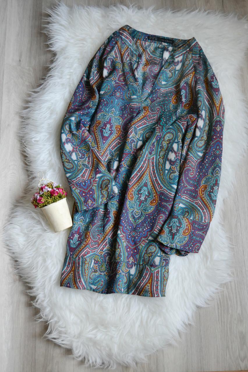 Удлиненная блузка с расширенным рукавом Zara