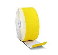 Шлифовальная шкурка на бумажной основе желтая 115 мм × 50 м зерно К 80 HTtools