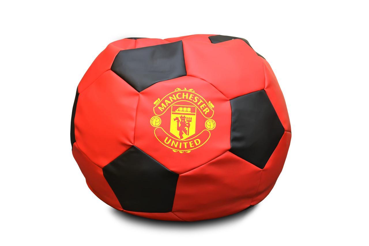 """Кресло мяч """"Манчестер Юнайтед"""" Экокожа Красно/Черный"""