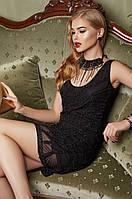 Красивое коктейльное платье с бисером