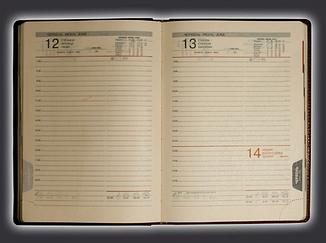 Ежедневник А5 датированный крем Latte/Saturn/Persue