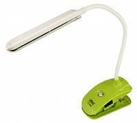 Светодиодная настольная аккумуляторная лампа-прищепка SEAN YJ-5868 зеленая Код.58493
