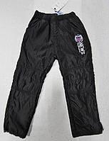 Теплые брюки из плащевки на мальчика на флисе 116-146