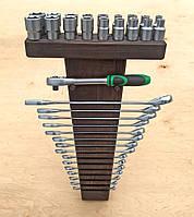 Органайзер для ключей (15) и головок (18) Венге