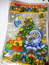 Пакет новорічний 40*25  поліпропіленовий (Дід Мороз) на фото інший