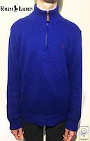 Мужской зимний свитер синий Polo Ralph Lauren Оригинал джемпер р. S