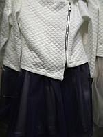 Стильный костюм для девочки (платье и жакет)