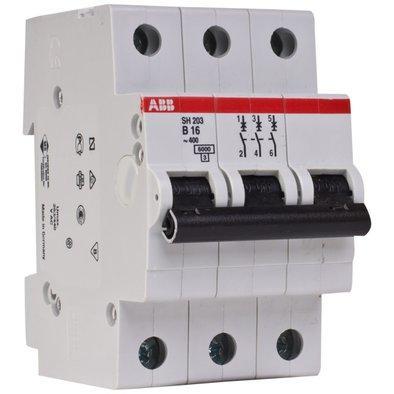 Автоматический выключатель АВВ SH203 3р 16А тип B 6кА