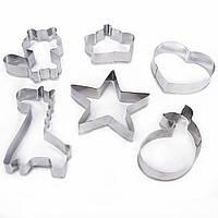 Металлические формы для печенья набор 6 штук