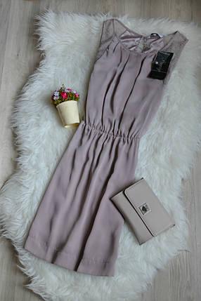 Новое сатиновое платье с кружевом пудрового цвета New Look, фото 2