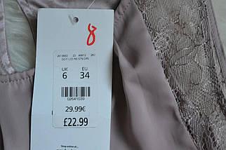 Новое сатиновое платье с кружевом пудрового цвета New Look, фото 3