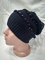 Тонкая шапка Mollin 1216 One Size черная, фото 3