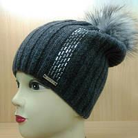 Amber зимняя женская шапка Kamea, графит цвет, фото 1
