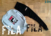 Спорт костюмы  Серо-черные