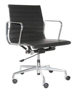 Кресло офисное CH1171T черная кожа,хром