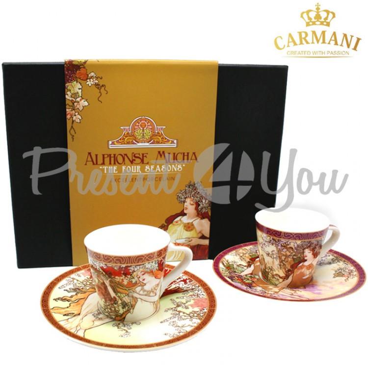 Чашка с блюдцем А. Муха «Четыре времени года. Осень» Carmani, 100мл (539-5106)