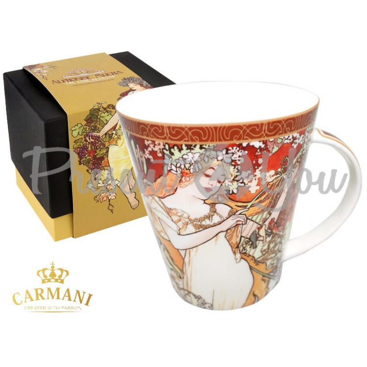 Чашка А. Муха «Четыре времени года. Весна» Carmani, 500мл (539-5201)