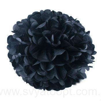 Помпон тишью черный 35см