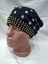 Тонкая шапка Золото 1224 черная, фото 2