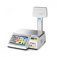 Весы торговые CAS CL-7200-U до 15 кг, с печатью этикеток, со стойкой