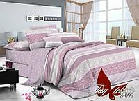 Комплект постельного белья сатин двуспальный TM Tag 099