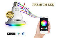 Умная лампа с Bluetooth динамиком! Смарт ЛЭД лампочка - Свет, Музыка, Светоцветовые эффекты