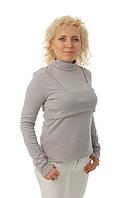 Тёплый гольф для беременных и кормящих мам ДЕЛОВАЯ МАМА (серый, размер S), фото 1