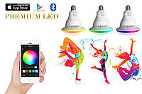 Smart Лампа LED - Умная LED Лампа bluetooth колонкой + RGB