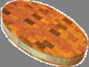 Доска торцевая овальная 500х300х70мм с металл ободом Украина ДРТО00