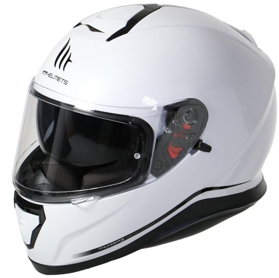 """Мотошлем MT THUNDER 3 SV pearl white """"L"""", арт. 10550004"""