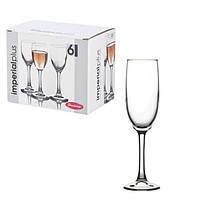 Набор фужеров Pasabahce - 155мл для шампанского, Imperial Plus, 6шт 44819