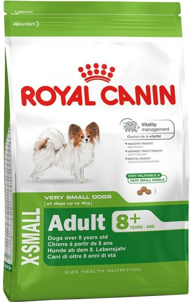 Сухой корм для собак Royal Canin (Роял Канин) X-SMALL ADULT 8+ миниатюрные породы старше 8 лет, 1,5 кг