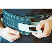 Пояс для пауэрлифтинга (штангиста) с карабином кожаный, 3 слоя Onhillsport S (OS-0401-1)