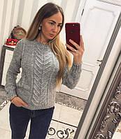 Женский модный вязаный свитер с узором