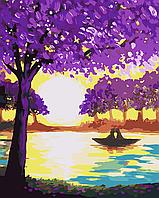 "AS 0033 ""Прогулка влюбленных"" Картина по номерам на холсте ART STORY 40x50см"