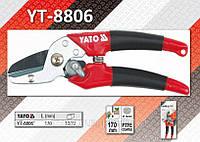 Секатор с упорной наковальней 200мм, YATO YT-8806