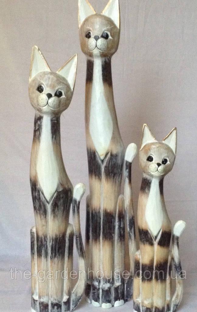 Семья котиков с белыми грудками (100, 80 и 60 см)