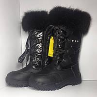 Сапоги черные в категории зимняя детская и подростковая обувь в ... ced9990442895