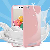 Чехол Xiaomi Redmi 4A силикон soft touch бампер светло-розовый