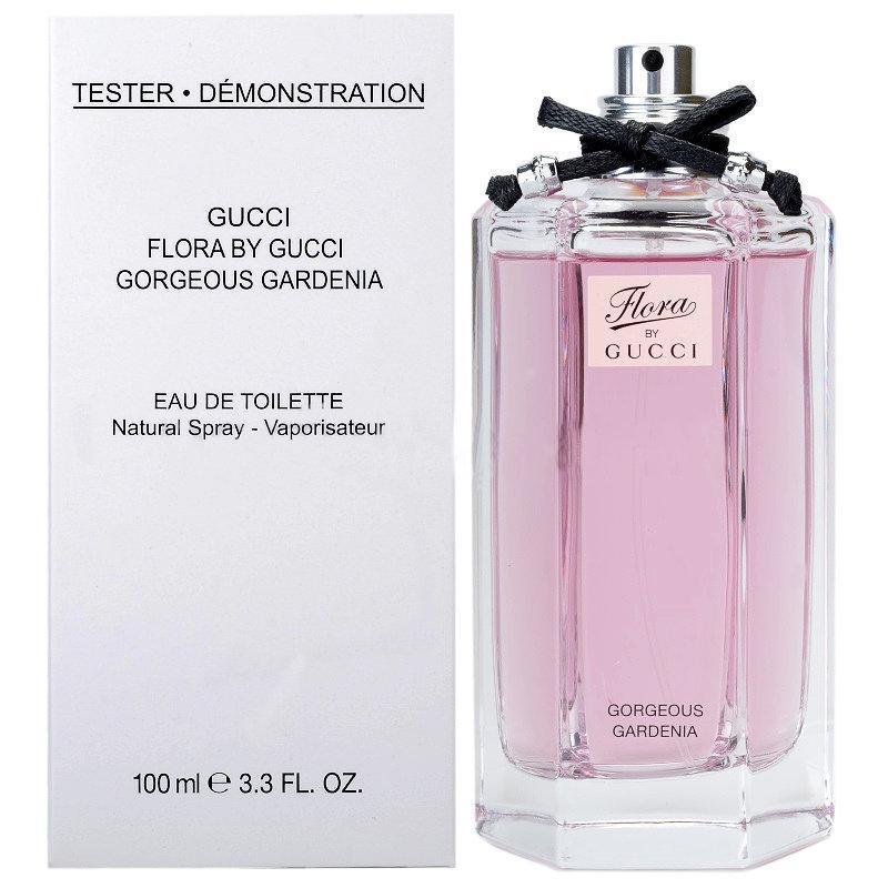 Gucci Flora by Gucci Gorgeous Gardenia туалетная вода 100 ml. (Тестер Гуччи Флора Бай Гуччи Горгеоус Гардения)