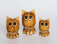 """Набор статуэток """"Котики-одуванчики"""" (12, 10 и 8 см), светло-коричневый"""