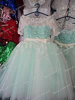 Детское платье бальное Королевское-1 (мятное) Возраст10-12лет., фото 1