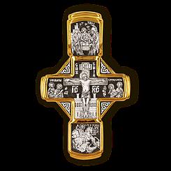 Розп'яття Христове з майбутніми. Свята Трійця. Св. Георгій. Микола Чудотворець. Архангели Гавриїл та Михаїл.