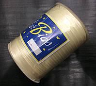 Косая бейка атласная, 15мм, цвет молочный/100м в бобине