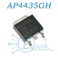 AP4435GH, (4435GH), MOSFET Транзистор, P-калал, 30V 40A, TO-252