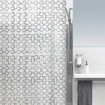 Шторка д/ванной  GRID peva 180х200 блестящая