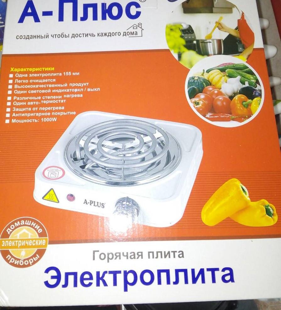 Электроплита A-Plus 2101, туристическая плита