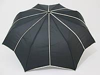 Зонт подростковый полуавтомат однотонный  черный