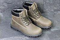 Мужские зимние ботинки Timberland коричневые 3776